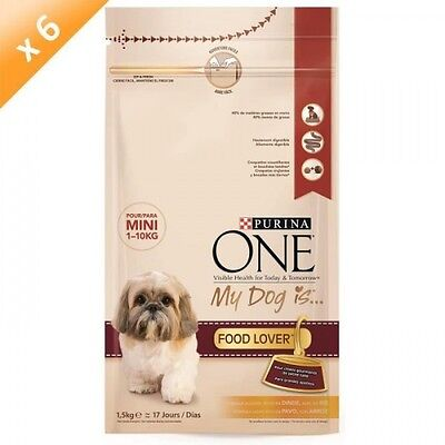 Purina ONE My Dog Is Food Lover  - 1,5 KG (x6) - Pour petit chien