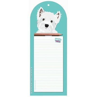Westie Wall Jotter- Waggy Tails - West Highland White Terrier