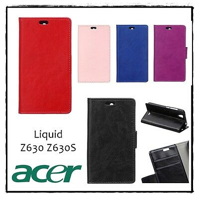 Etui housse coque porte-cartes Folio Noir Case Cover ACER Liquid Z630 / Z630S