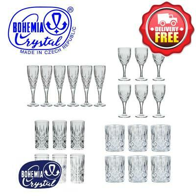Bohemia Crystal Sheffield 24pcs Suite Wine + Champagne + Whisky + HiBall Glasses