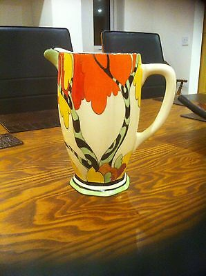 "Clarice Cliff (Fantasque, Bizarre, Newport Pottery) Honolulu 7"" Athens jug"