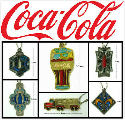 Lots of 6 Coca-Cola Collection Metal KeyChains coc0183
