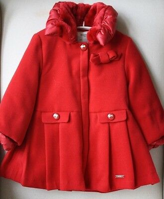 Mayoral Baby Red Classic Coat 3 Years