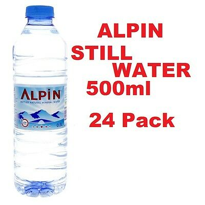 ALPIN Natural Mineral Still Water Bottle Plastic 500ml Pack of 24