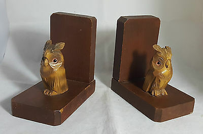 Pair of Beautiful Wooden Owl Book Ends (Height - 13 cm)