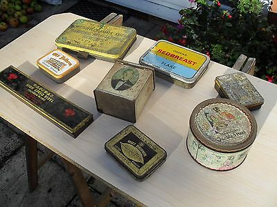 Job  lot  of  8  Vintage  Collectable  Tin  Boxes