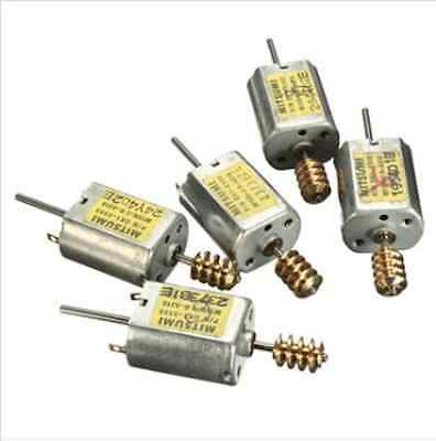 5Pcs 12V 13500RPM DC Motor Micro 2Pin Magnetic Electric Double Axle Soldering