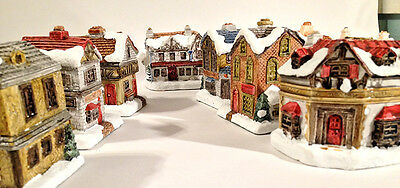 a Dickens Christmas Collection Village 9 houses Christmas Carol Scrooge
