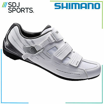 Shimano Rp300 Spd-Sl And Spd Cleat Compatible Road Bike Cycling Shoes White
