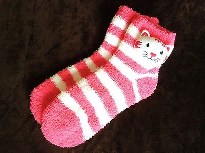 Older Girls High Quality Cosy Warm Hello Kitty Socks Snuggle Slipper Socks 1-4.5