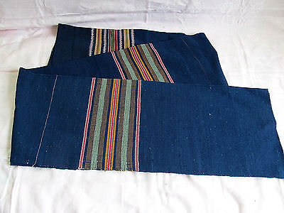 Antique Old Primitive Homespun Fabric Roll Blue More Than 2 Yards Homespun