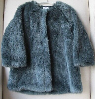 Mamas And Papas Baby Girls Faux Fur Coat 2-3 Years