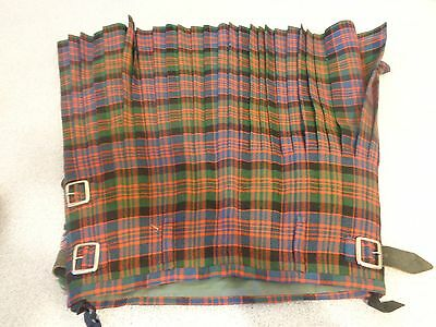 "KILT WAISTCOAT PRINCE CHARLIE 34"" chest 28"" +W ( check all measurements listed)"