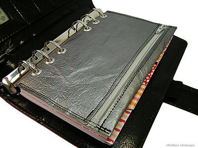 Filofax Color Crush Personal Tasche Kalender Silber Upcycling