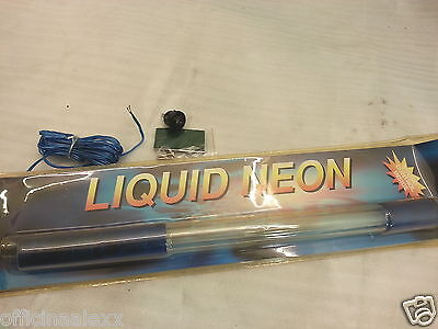 neon lamp for scooter car light blue with effect liquid 12 volt 40CM
