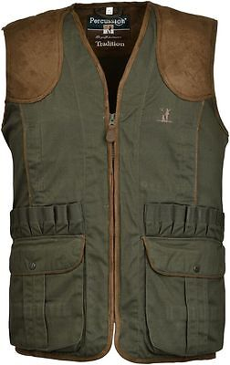 "Percussion Shooting Hunting ""TRADITION"" Waistcoat Vest Green"