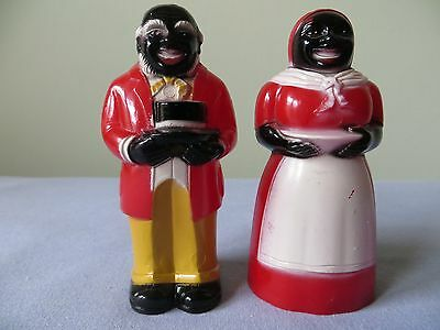 Black Americana Mammy and Mose Salt and Pepper shakers