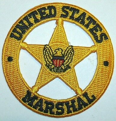 US MARSHAL POLICE GOLD PATCH parche