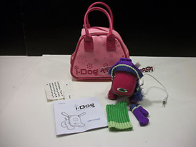 i-Dog Speaker Hasbro Pink with Purple Outfit Sweater Scarf & Hat