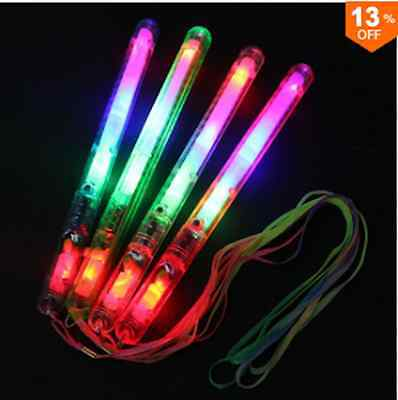 Multi Color 7 Modes LED Flashing Light Glow Wand Sticks Fun Supplies