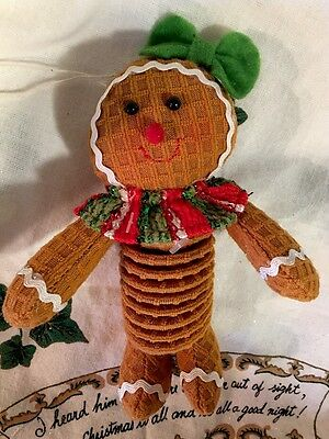 Gingerbread Girl Hanging Ornament Christmas Tree Decor PEPPERMINT CANDY