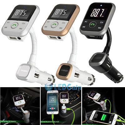 Car Kit Wireless Bluetooth MP3 Player FM Transmitter Modulator USB SD LCD Remote