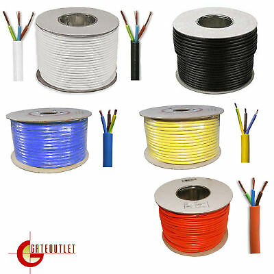 3 Core Round Flex 3183Y Standard And Arctic Grade Flexible PCV Ext Cable Wiring