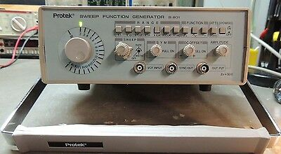 Protek B-801 2MHz Sweep/Function generator Tested and working. NICE!