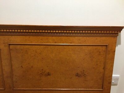 Brights Of Nettlebed Maple Veneered Mahogany Double Bed Headboard A/F 'Antique'