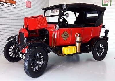 G LGB 1:24 Scale 1925 Ford Model T Fire Engine Railway Detailed Diecast Sunstar