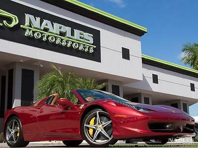 2012 Ferrari 458 Base Convertible 2-Door 2012 Ferrari 458 Spider, Rare Color, Daytona Seats, Shields, Amazing Condition!
