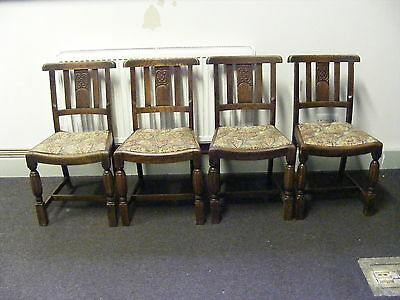 Four 1940's dining chairs