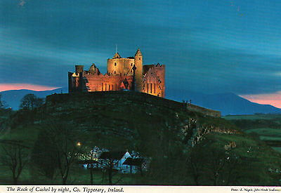 postcard Ireland  The Rock of Cashel by night Co. Tipperary   posted