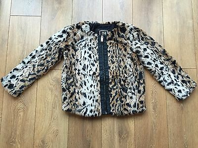 BNWOT Stunning Girls RIVER ISLAND Faux Fur Coat Jacket Age 12 Years Free P&P!