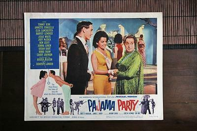 PAJAMA PARTY Original Lobby Card TOMMY KIRK ANNETTE FUNICELLO ELSA LANCHESTER