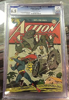 ACTION COMICS #76 CGC 6.5 white/off-white pages
