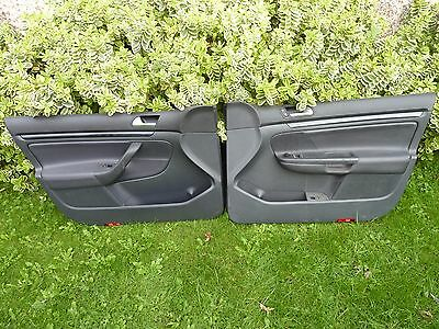 Vw Golf Mk5 2004-2009 Leather Driver & Passenger Front Door Card Electric