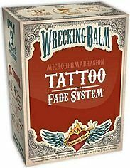 Remove Tattoos Cream Wrecking Balm Microdermabrasion Help Tattoo Fade System NEW