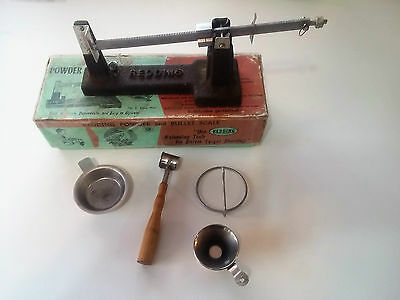Vintage REDDING Bullet and Powder Scale with original box and tools