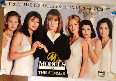 Models Inc. Fox TV Poster / Rare, vintage Fox 1994 advanced promotional 27 X 40