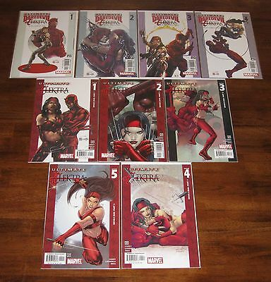 Ultimate Daredevil & Elektra #1 2 3 4 __ Ultimate Elektra #1 2 3 4 5 Marvel