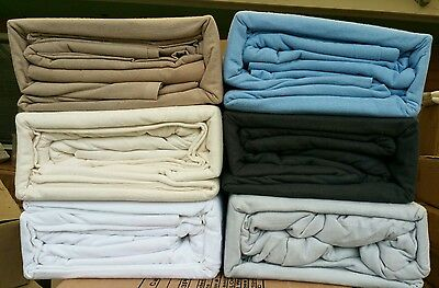 100% Cotton Flannel / Flannelette Fitted Sheet pillowcases  bedset all sizes