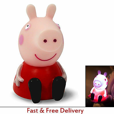 Peppa Pig Night Light LED Safe Children Colour Changing Lamp Baterries Included