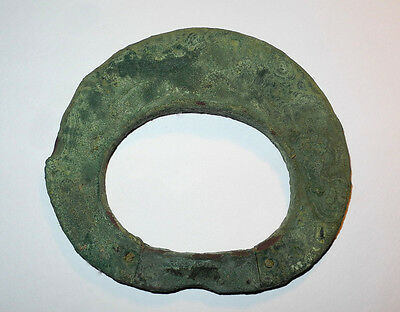 Ancient Viking Bronze Bracelet Genuine Decoration