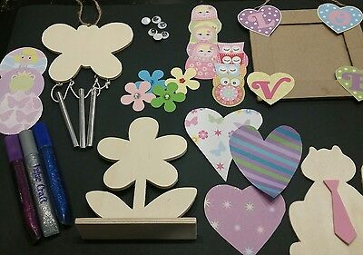 Kids craft kits - Mega pack over 100 pieces -5 craft projects