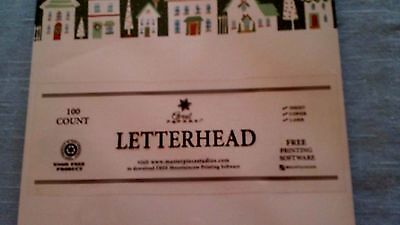 Great Papers Letterhead Holiday Winter Stationary Paper Pkg 100 Sheets 8.5 X 11