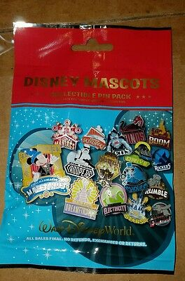 Disney Pins (5) DISNEY MASCOTS Sealed Collectible Mystery Pin Pack FREE SHIPPING