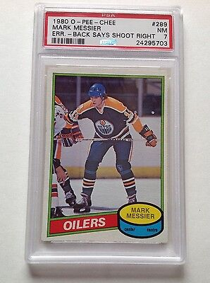 1980 OPC Mark Messier #289 Rookie PSA 7