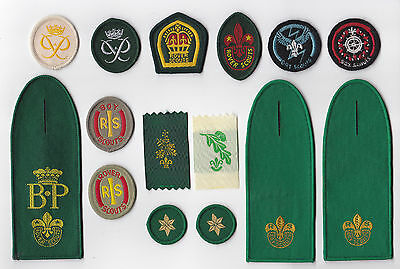 1960's BRITISH / UNITED KINGDOM Rover Scout Baden Powell BP Award Rank Badge SET