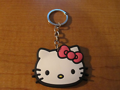 HELLO KITTY Automobile Keychain Key Chain PVC Rubber FOB with Metal Ring
